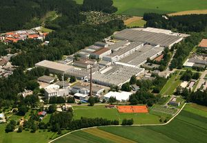 Aerial view of BSH's Traunreut factory, 2008, BSH wiki